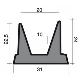 Joint en mousse noir 31 mm pour chambres froides