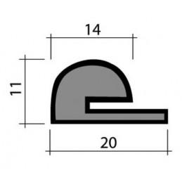 Joint en mousse 20 mm noir pour chambres froides