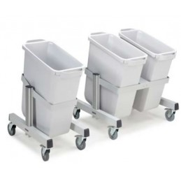 Chariots porte-poubelles mobiles PRMT