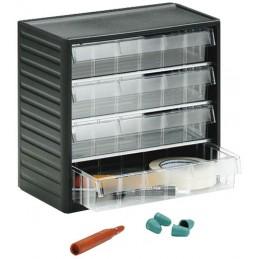 Armoire de stockage 4 tiroirs 277 mm pour petites pièces