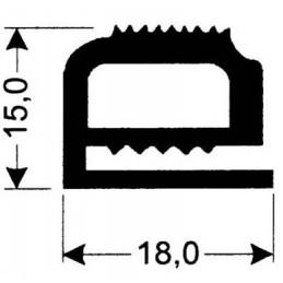 Joint silicone 18 mm gris foncé pour porte de fours