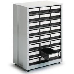 Armoire haute densité 24 tiroirs gris