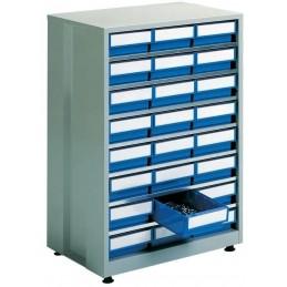 Armoire haute densité 24 tiroirs bleu