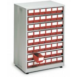 Armoire haute densité 48 tiroirs rouge
