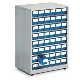 Armoire haute densité 48 tiroirs bleu