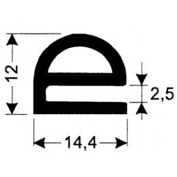 Joint silicone 14.4 mm gris foncé pour porte de fours