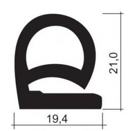 Joint silicone 19.4 mm gris foncé pour porte de fours