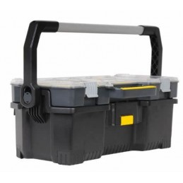 Boîte à outils avec organiseurs transparent Stanley