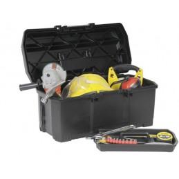 Boîte à outils 60 cm avec plateau intérieur amovible porte-outils