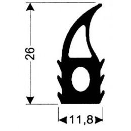 Joint silicone hauteur 26 mm gris foncé pour porte de fours