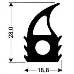 Joint silicone 18.8 mm gris foncé pour porte de fours
