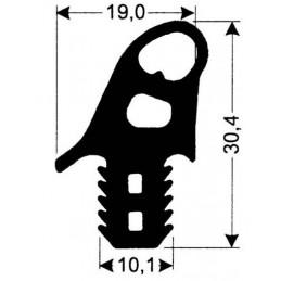 joint silicone 19 mm gris foncé pour porte de fours