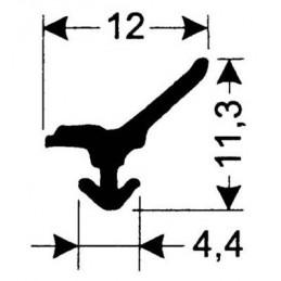 Joint silicone 12 mm noir pour porte de fours