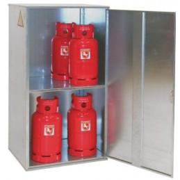 Conteneur pour bonbonnes de gaz porte pleine