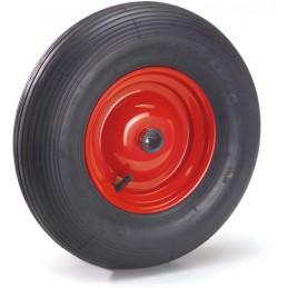 Roue gonflable 400 mm pneu rainuré