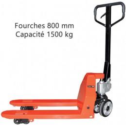 Transpalette fourches 800 mm capacité 1500 kg