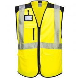 Gilet Multipoches haute-visibilité PW3 jaune noir