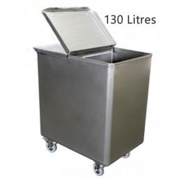 Bac inox pour sel et farine capacité 130 litres