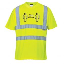 T-shirt HV Distanciation Sociale Jaune