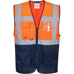Gilet Executive Orange Marine haute visibilité bicolore MeshAir
