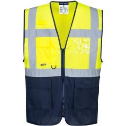Gilet Executive jaune Marine haute visibilité bicolore MeshAir