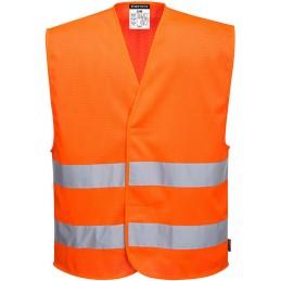 Gilet 2 bandes orange haute visibilité MeshAir