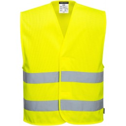 Gilet 2 bandes jaune haute visibilité MeshAir