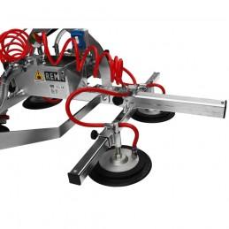 Palonnier de levage à ventouse électrique pour  manutention des charges avec surface plate et imperméable à l'air