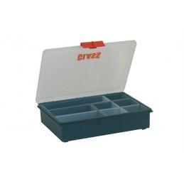 Boîte de rangement avec 8 godets boite ouverte.