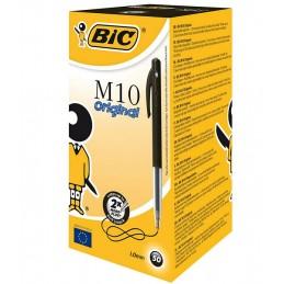 50 Stylos bille noir rétractable BIC M10