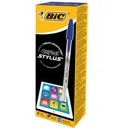 12 Stylos à bille bleu Cristal Stylus BIC
