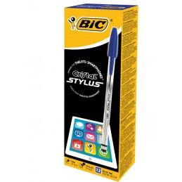 12 Stylos à bille noir Cristal Stylus BIC