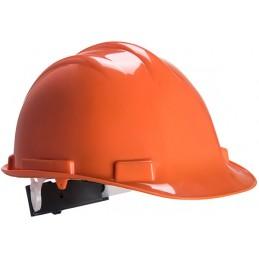 Casque de sécurité Expertbase à crémaillère Orange