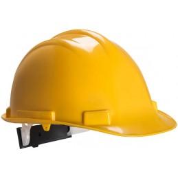 Casque de sécurité Expertbase à crémaillère jaune