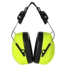Coquilles Anti-bruits haute visibilité à clipser Jaune