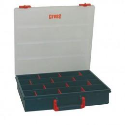 Boîte de rangement avec 12 cloisons amovibles
