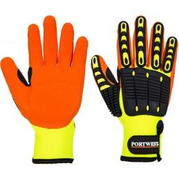 Gant Anti Impact Grip Jaune Orange