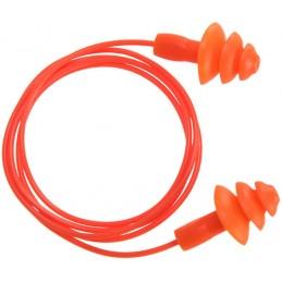 Bouchon d'oreille TPR avec cordon réutilisable
