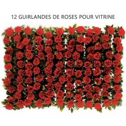 Guirlandes de roses pour séparation vitrine
