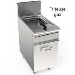 Friteuse gaz 1 cuve de 17 litres sur meuble inox