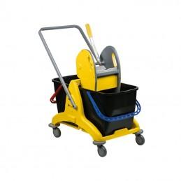 Chariot de nettoyage à 2 seaux 25 litres avec presse