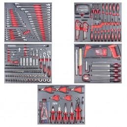 Servante d'atelier avec 318 outils PROMAC : l'ensemble des outils.