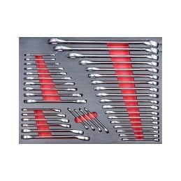 Servante d'atelier avec 318 outils PROMAC, section clés plates.