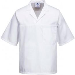Tunique de cuisine manches courtes blanche