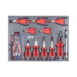 Servante d'atelier avec 318 outils PROMAC, section pinces.