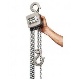 Palan manuel à chaîne aluminium 250 à 5000 kg Hadef