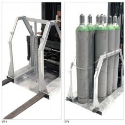 Palette de stockage pour bouteilles de gaz