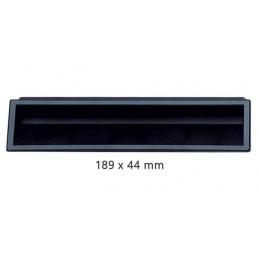 Poignée ABS noir 189 x 44 mm à encastrer