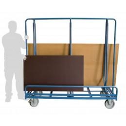 Chariot porte-panneaux grandes tailles sur 2 faces de 600 kg