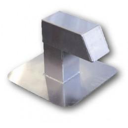 Passage aluminium 125x125 mm avec 1 sortie